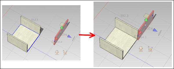 右側面を箱本体に近づける