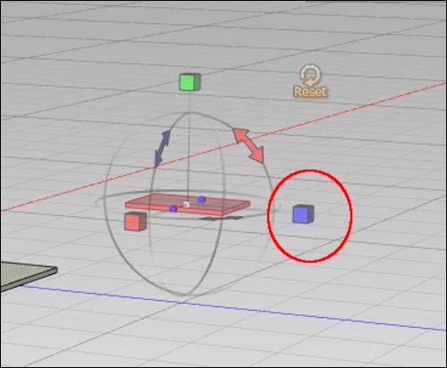 マニピュレータ―の形状がキューブ状に変化する
