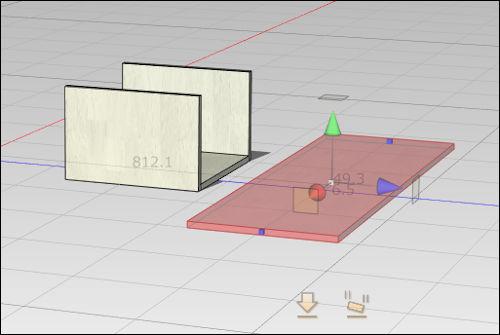 追加した板材を見やすくなるように移動